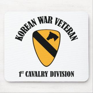 Veterano de Guerra de Corea - 1r Cav Tapetes De Ratones