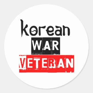 veterano de Guerra de Corea Pegatina Redonda