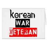 veterano de Guerra de Corea Tarjetón