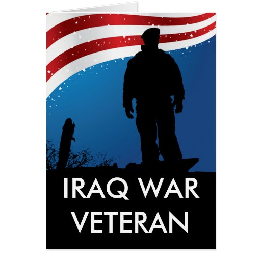 Veterano de guerra de Iraq Tarjeta De Felicitación