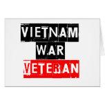 veterano de guerra de Vietnam Tarjeta De Felicitación