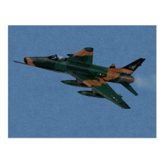 Veterano de guerra estupendo del F-100 SABRE Vietn Tarjeta Postal