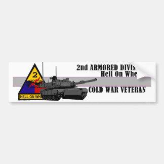 Veterano de guerra fría pegatina de parachoque