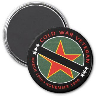 Veterano de guerra fría imán redondo 7 cm