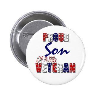 Veterano de guerra orgulloso del HIJO Pin Redondo 5 Cm