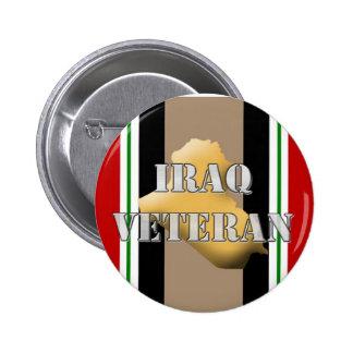 Veterano de Iraq Pin Redondo De 2 Pulgadas