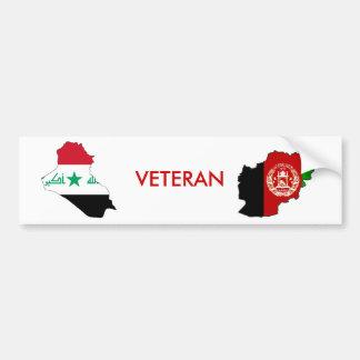 Veterano de Iraq y de Afganistán Pegatina De Parachoque