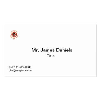 Veterano de la cruz maltesa del bombero tarjeta de visita