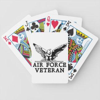 Veterano de la fuerza aérea con American Eagle Baraja De Cartas