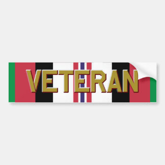 Veterano de la libertad de operación que aguanta etiqueta de parachoque