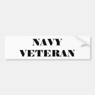 Veterano de la marina de guerra de la pegatina par pegatina para auto
