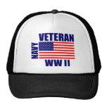 Veterano de la MARINA DE GUERRA WW II Gorras De Camionero