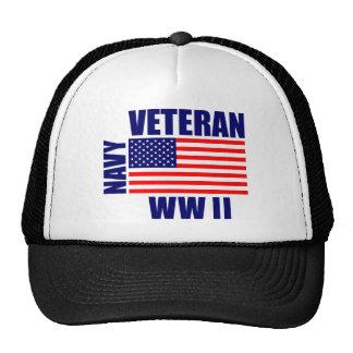 Veterano de la MARINA DE GUERRA WW II Gorro De Camionero