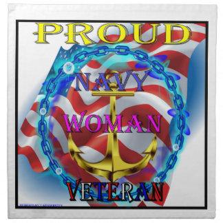 Veterano de la mujer de la marina de guerra servilleta de papel