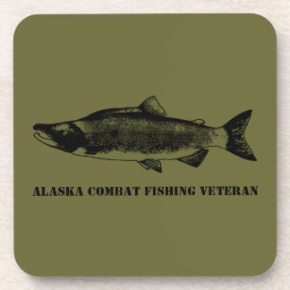 Veterano de la pesca del combate de Alaska Posavasos