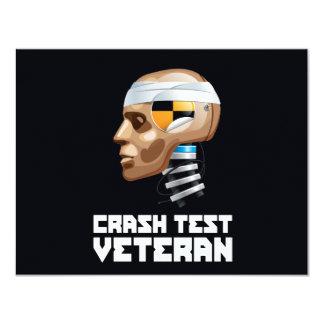 """Veterano de la prueba del desplome invitación 4.25"""" x 5.5"""""""