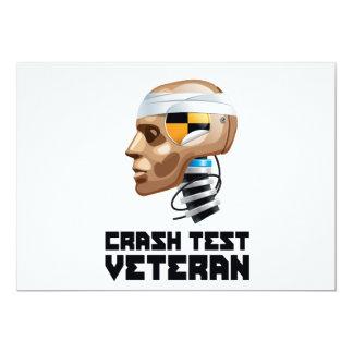 """Veterano de la prueba del desplome invitación 5"""" x 7"""""""