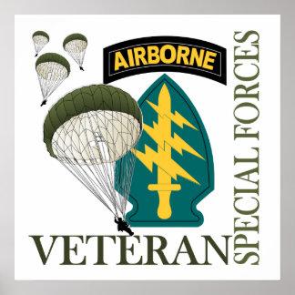 Veterano de las fuerzas especiales - aerotransport póster