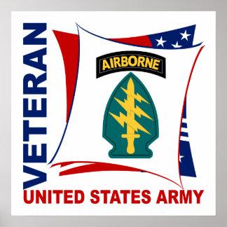 Veterano de las fuerzas especiales póster