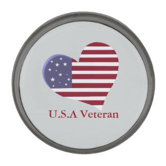 Veterano de los E.E.U.U. con el corazón rojo, Pins Metalizados