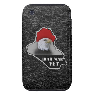 Veterano de los militares de la guerra de Iraq Tough iPhone 3 Protectores