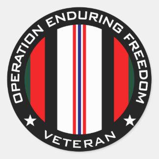 Veterano de OEF Pegatina Redonda