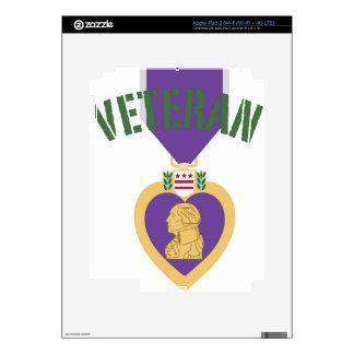 Veterano de Purple Heart Pegatina Skin Para iPad 3