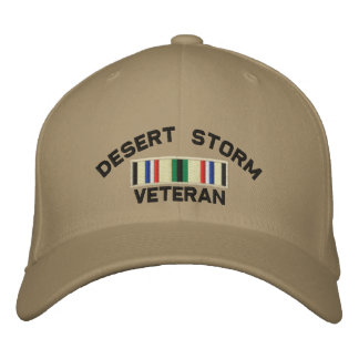 Veterano de tormenta de desierto gorros bordados