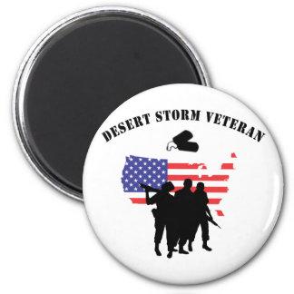 Veterano de tormenta de desierto imán redondo 5 cm