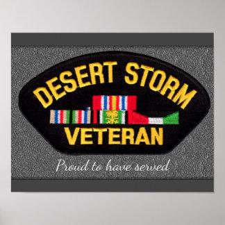 Veterano de tormenta de desierto - impresión póster