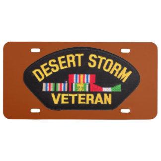 Veterano de tormenta de desierto - placa placa de matrícula
