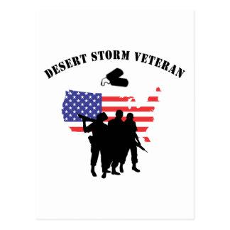 Veterano de tormenta de desierto tarjetas postales