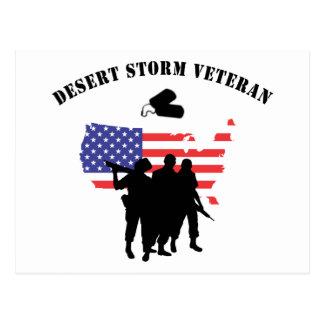 Veterano de tormenta de desierto postal
