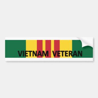 Veterano de Vietnam Etiqueta De Parachoque