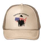 Veterano de Vietnam Gorros Bordados