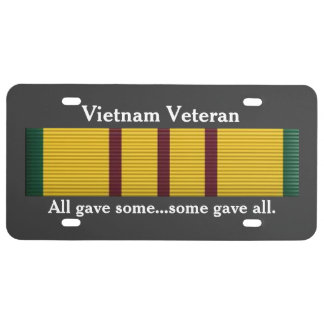 Veterano de Vietnam - placa Placa De Matrícula