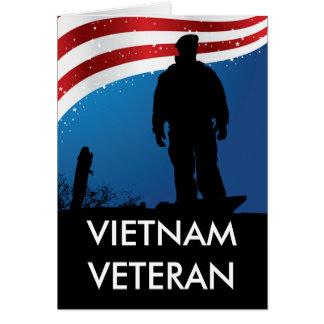 Veterano de Vietnam Tarjeta De Felicitación