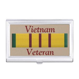 Veterano de Vietnam - tenedor de la tarjeta de Cajas De Tarjetas De Presentación