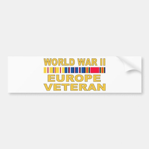 Veterano de WWII Europa Etiqueta De Parachoque