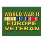 Veterano de WWII Europa Tarjeta Postal