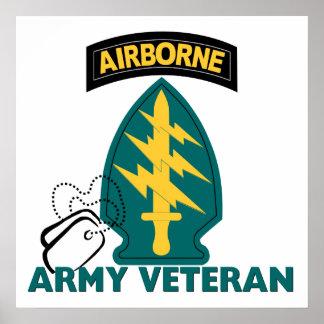 Veterano del ejército - fuerzas especiales póster