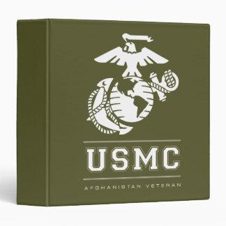 """Veterano del USMC Afganistán Carpeta 1 1/2"""""""