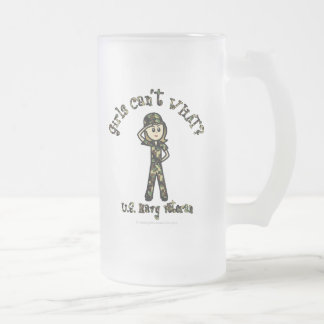 Veterano femenino ligero de la marina de guerra taza de cristal