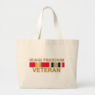 Veterano iraquí de la libertad - bolso bolsas lienzo
