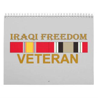 Veterano iraquí de la libertad - calendario