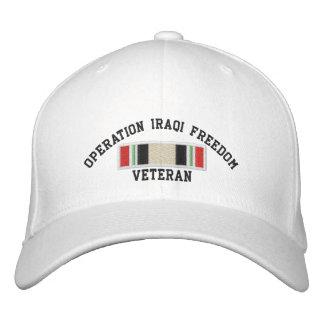 Veterano iraquí de la libertad de la operación gorra de beisbol