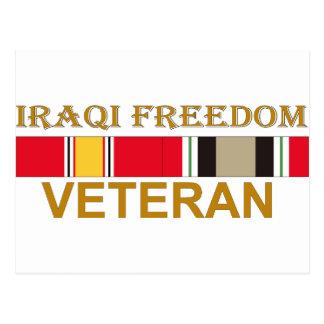 Veterano iraquí de la libertad postales
