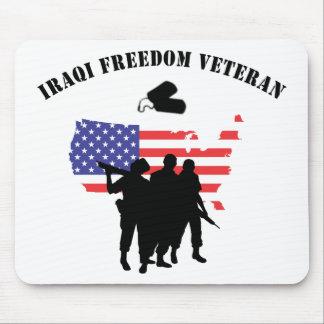 Veterano iraquí de la libertad tapetes de ratones