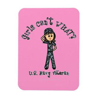 Veterano ligero de la marina de guerra (Camo azul) Iman Rectangular