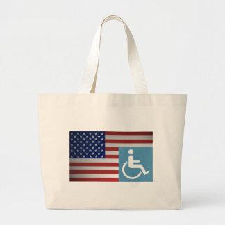 Veterano lisiado americano bolsa tela grande